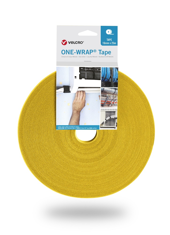 VELCRO® Brand One Wrap Heavy Duty Self Adhesive Back to Back Tape 16mm Wide